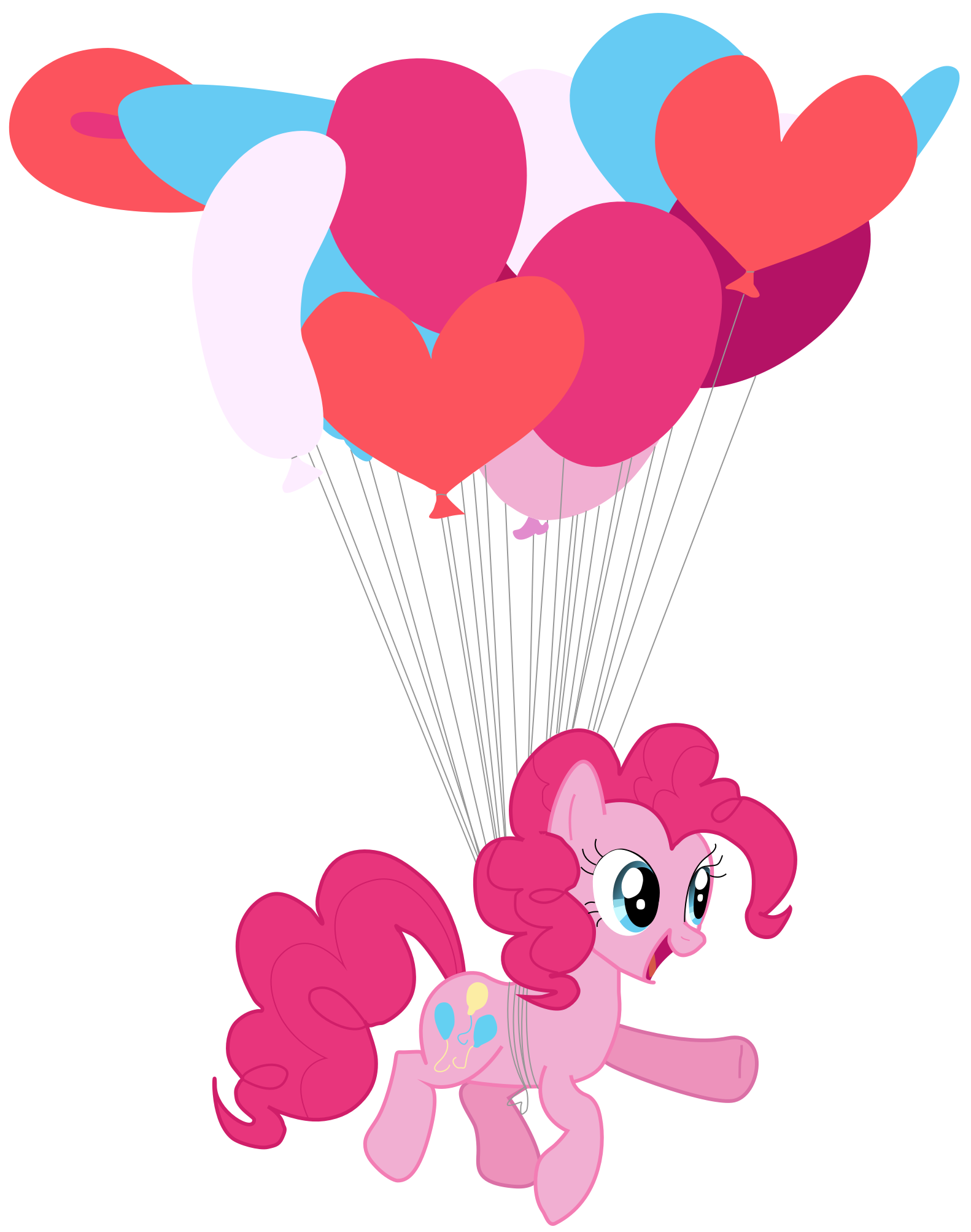 My first vector of Pinkie Pie. by Flutterflyraptor