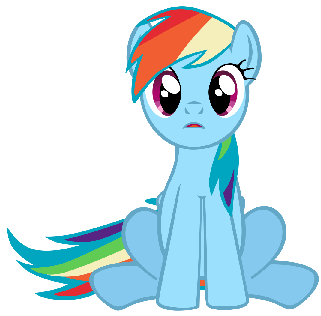 Rainbow dash crying vector images amp pictures becuo