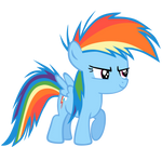 Young filly, Rainbow Dash!