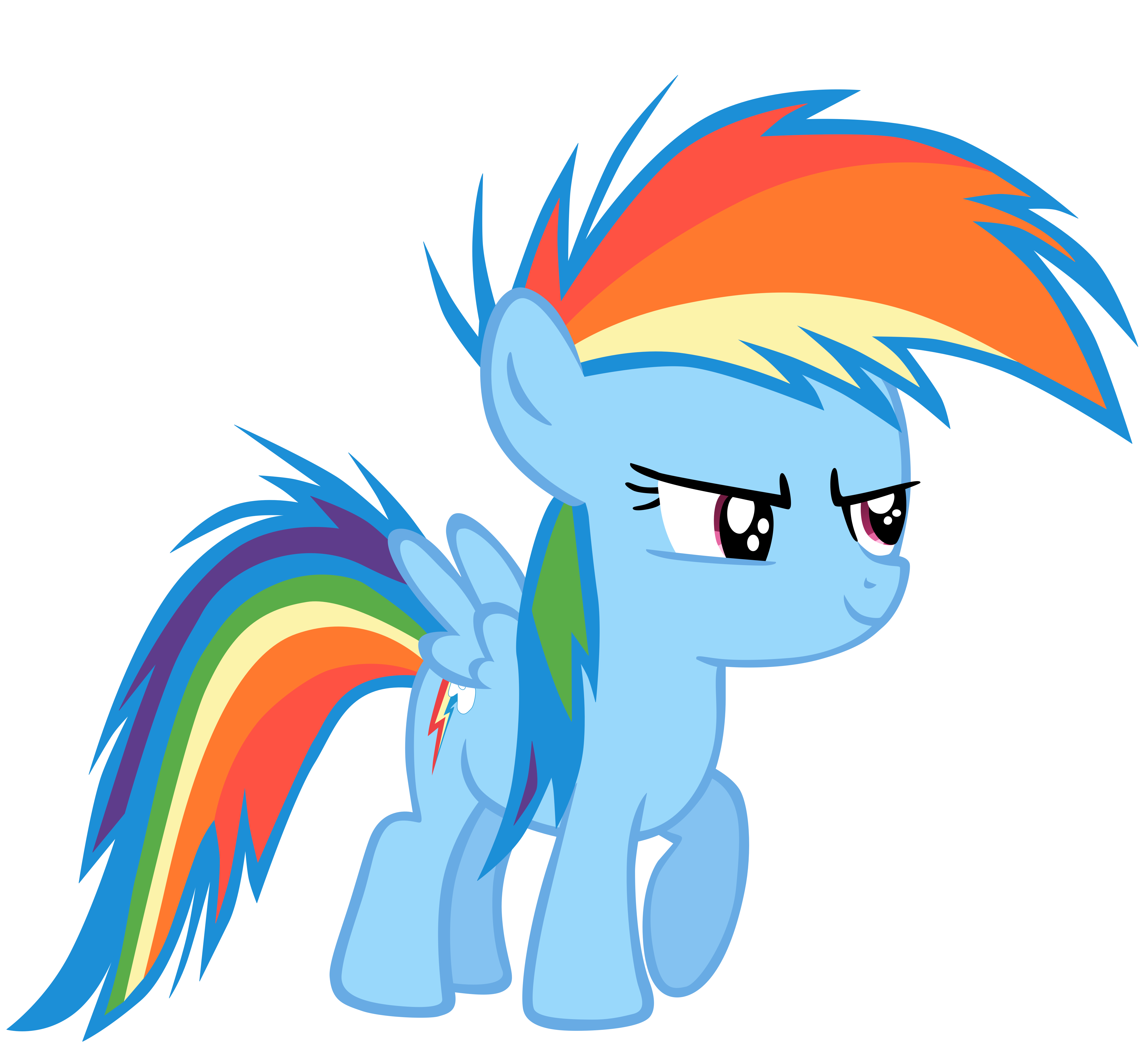 Young filly, Rainbow Dash! by Flutterflyraptor on DeviantArt