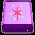 Mac USB HD Icon, Twilight Sparkle Version. by Flutterflyraptor