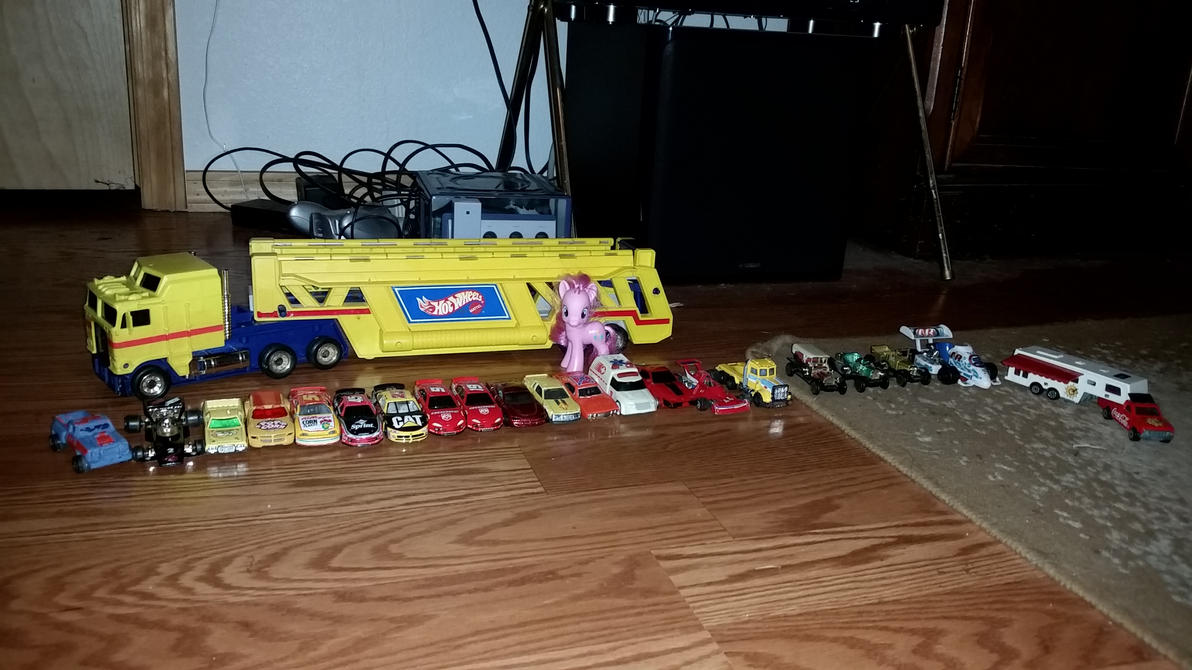 Pinkie Pie, and Hot Wheels! by Flutterflyraptor