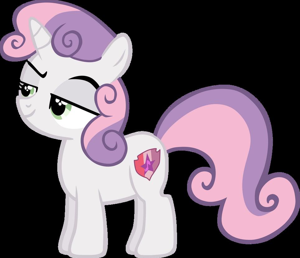 My 2nd vector of, Sweetie Belle. by Flutterflyraptor