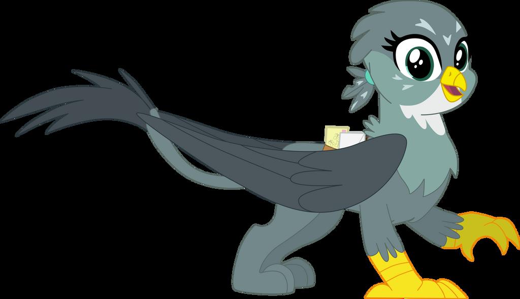 My 1st vector of, Gabby the Griffon. by Flutterflyraptor