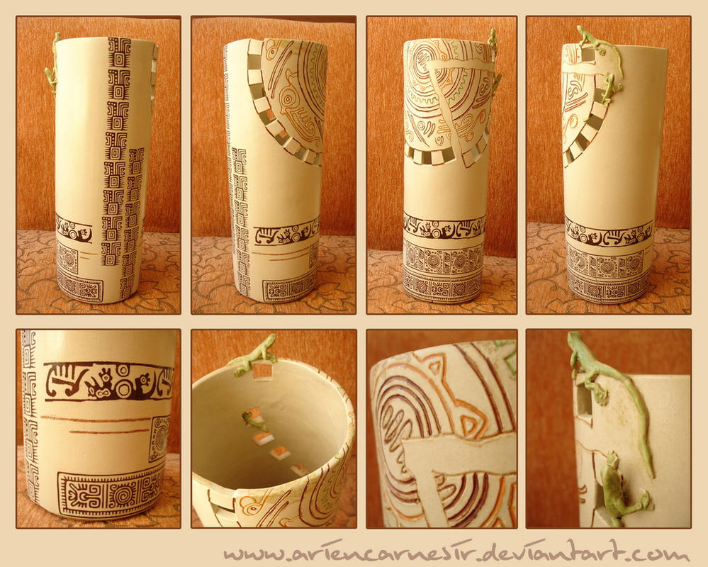 motifs of maya on vase 2 by ariencarnesir