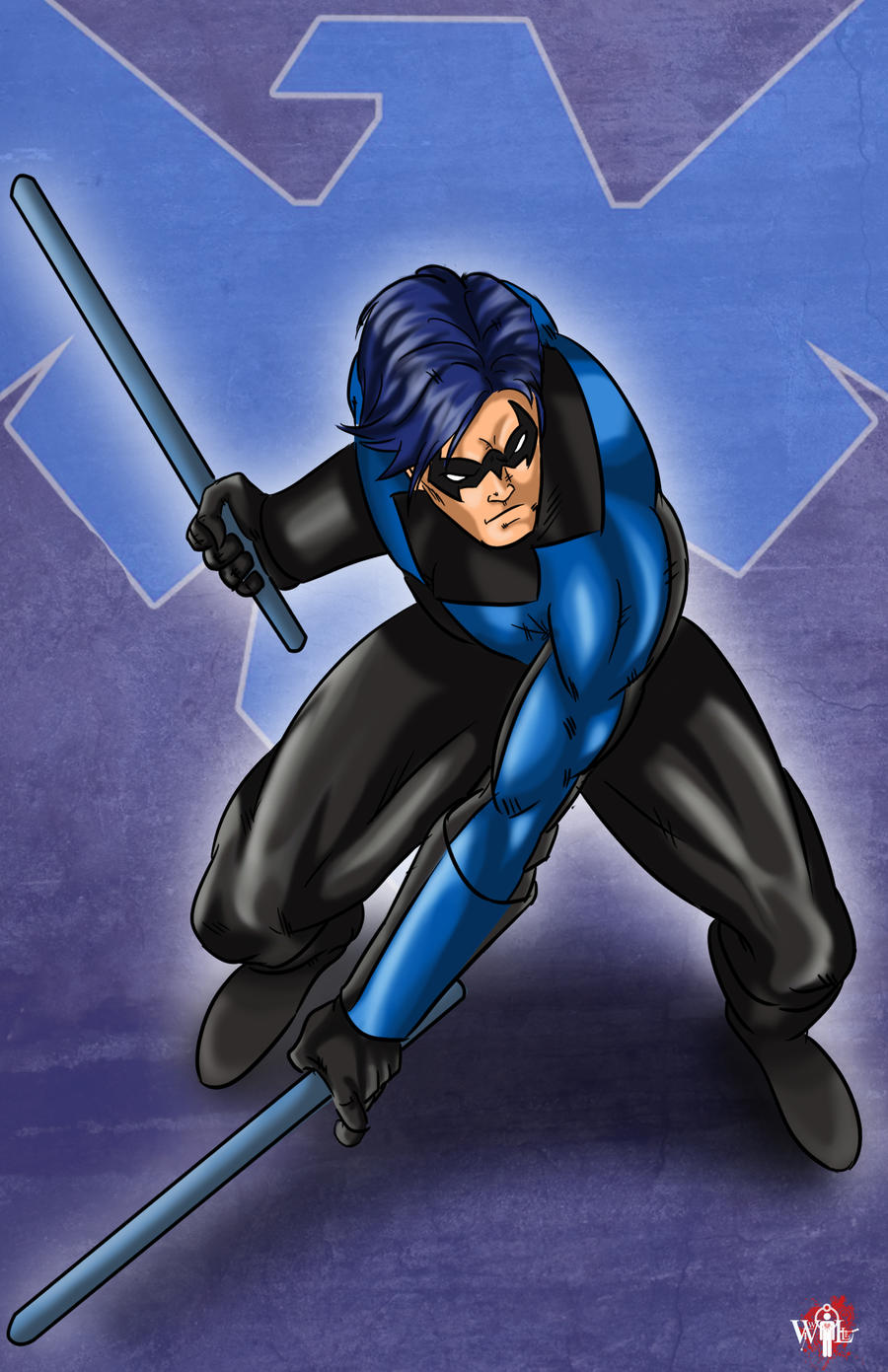 Dc Comics Fans : Nightwing by wil woods on deviantart
