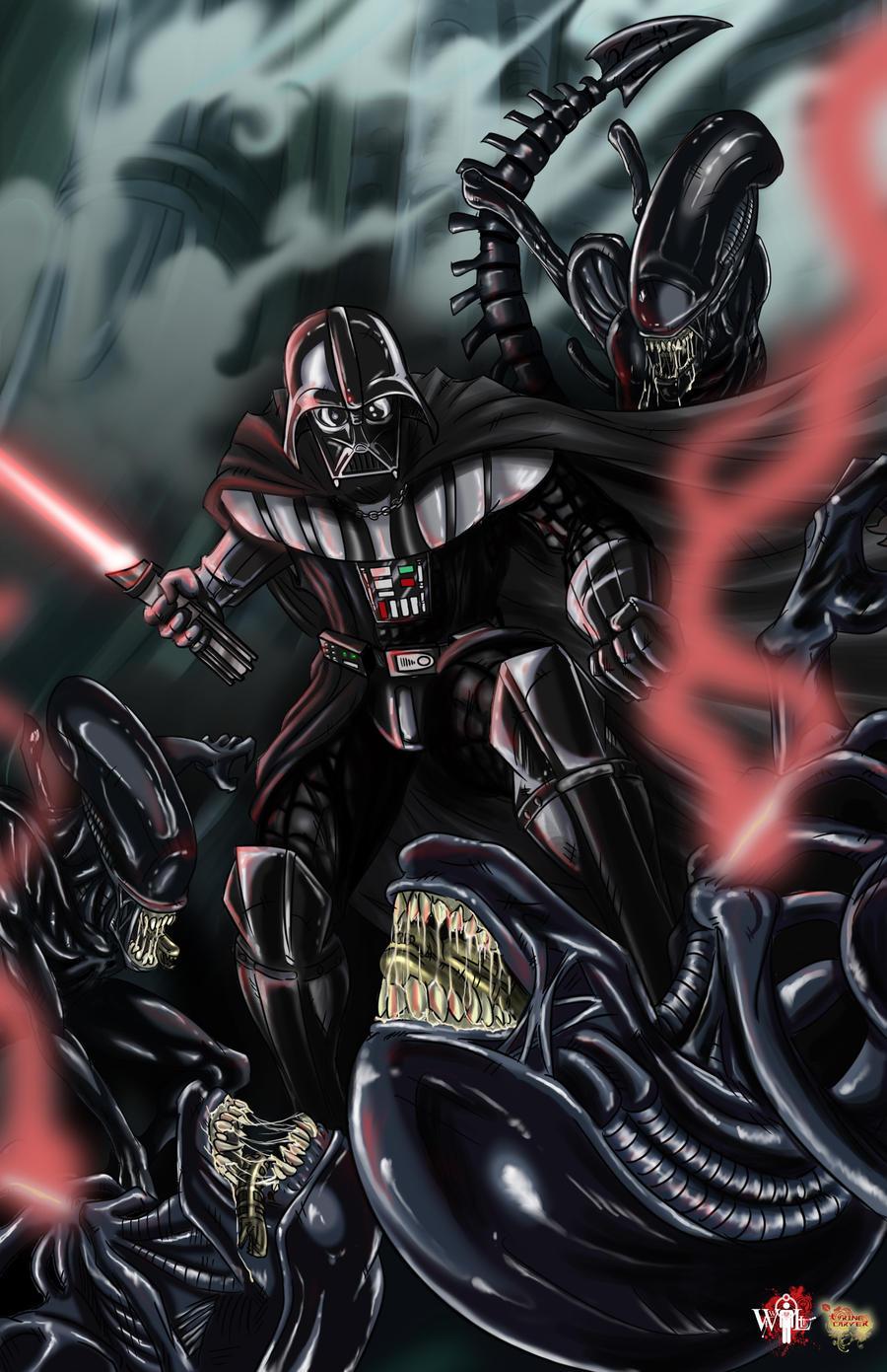 AVV_Aliens VS Vader by WiL-Woods
