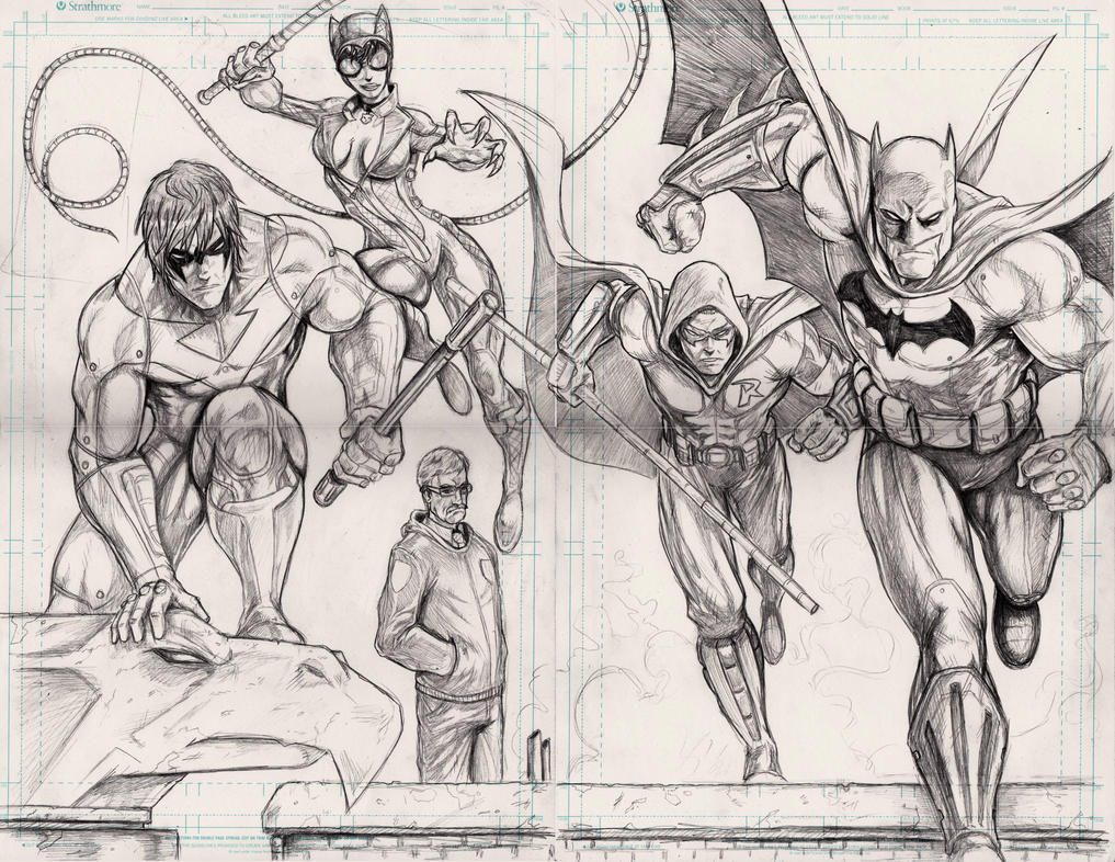 Batman Arkham City Pencils By WiL Woods
