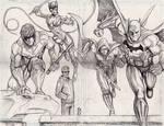 Batman Arkham City pencils