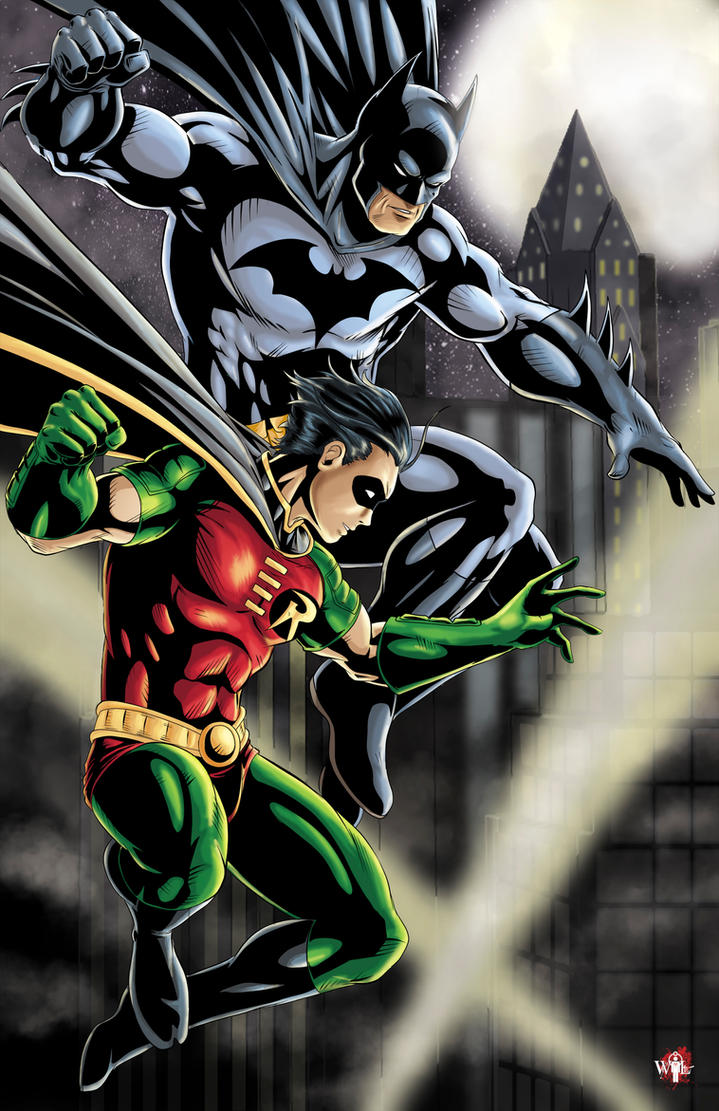 Batman And Robin Color Version By Wil Woods On Deviantart