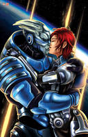 Mass Effect Garrus/FemShep by WiL-Woods