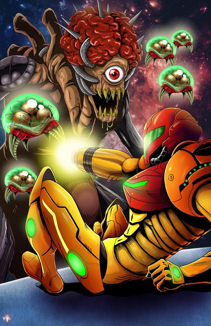 Metroid Boss Battle by WiL-Woods