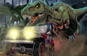 Jurassic Park Chase by WiL-Woods