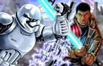 Star Wars Finn VS Riot Trooper