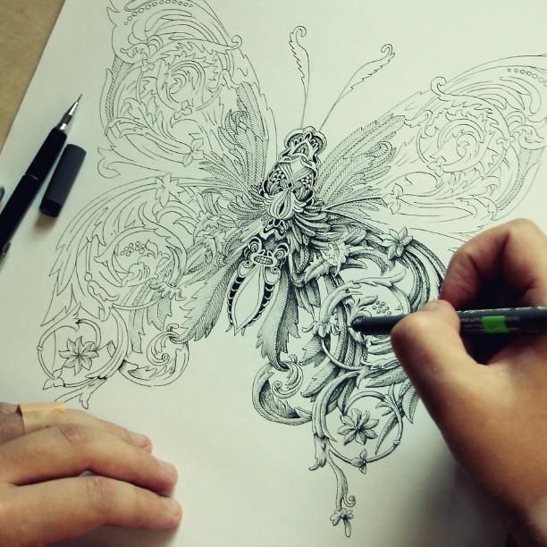 Как рисовать карандашом и тушью