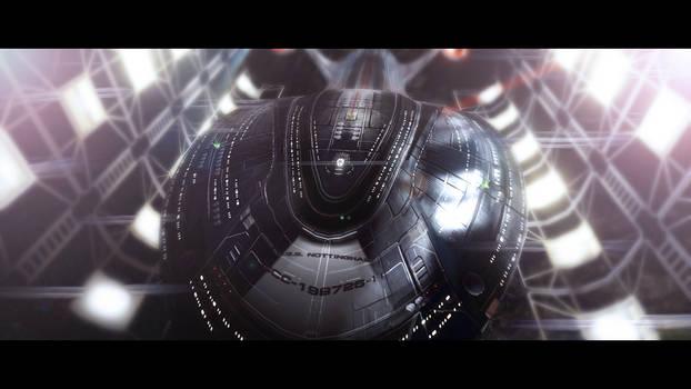 U.S.S. Nottingham-H in Spacedock