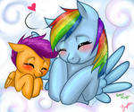 Scootaloo and Dash