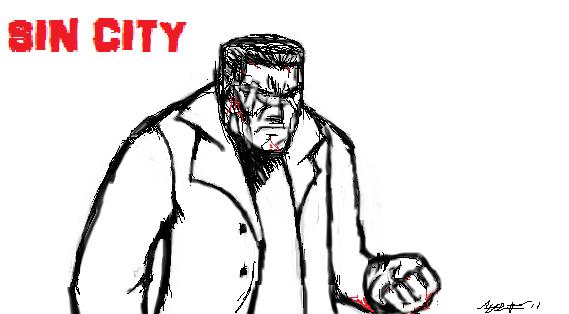 Sin City's Marv by hulk1234