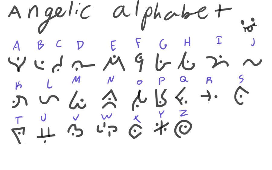 angelic alphabet by linkavar on deviantart