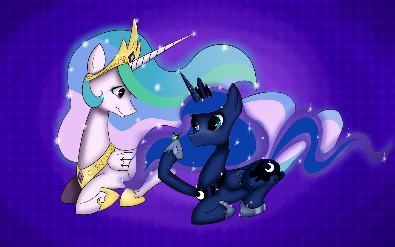 Celestia and Luna by frostykat13 on DeviantArt