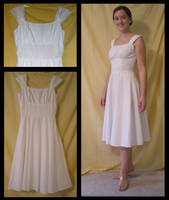 White Summer Dress by Durnesque