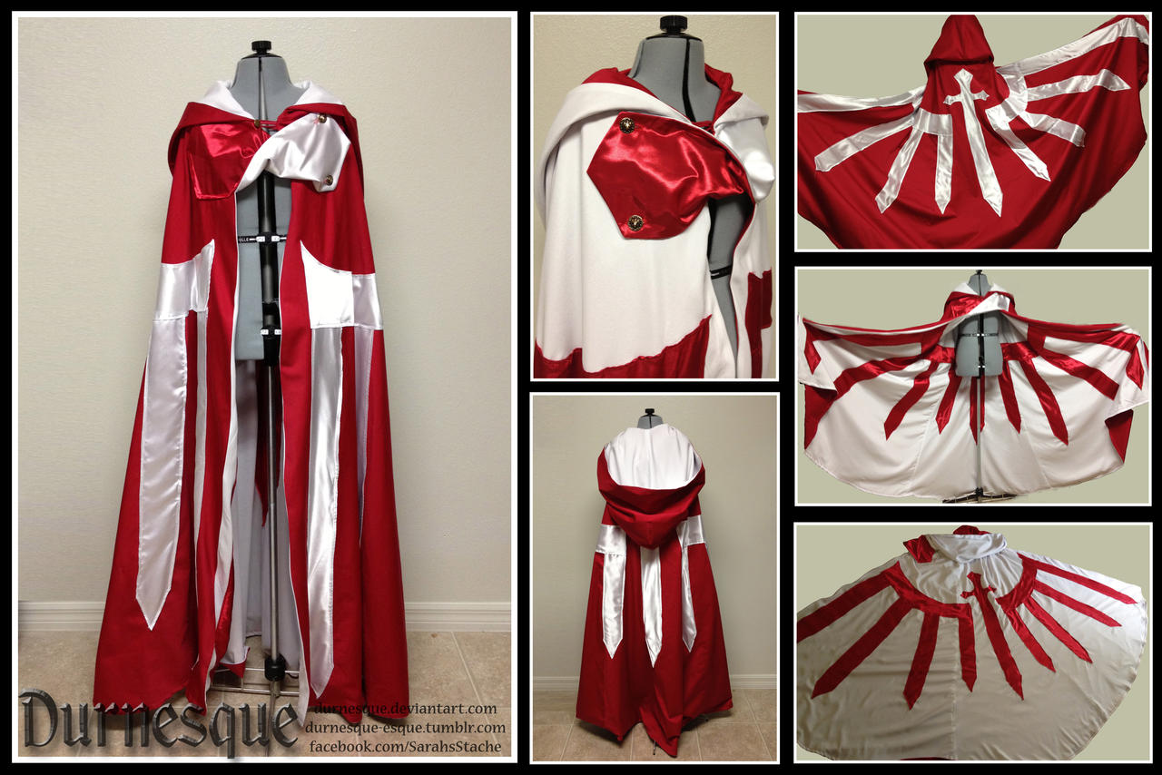 Sword Emblazoned Reversible Cloak by Durnesque