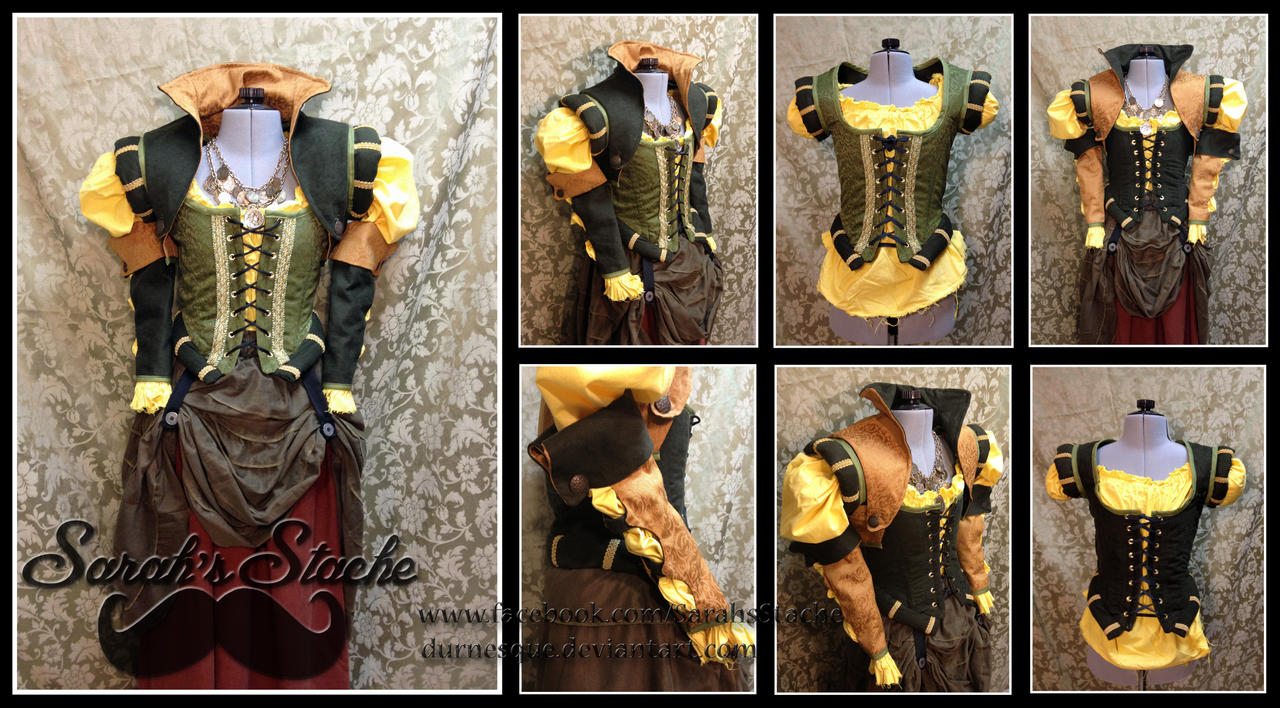 Green and Gold Reversible Pirate Garb by Durnesque