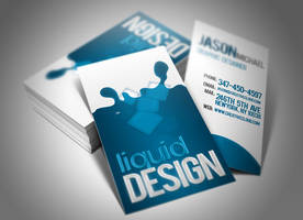 Liquid Business Card Design by Cre8tiveCloud
