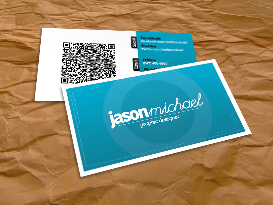 Clean Business Card Design by Cre8tiveCloud