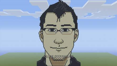 Markiplier Minecraft Pixel Art by FelixGuaman