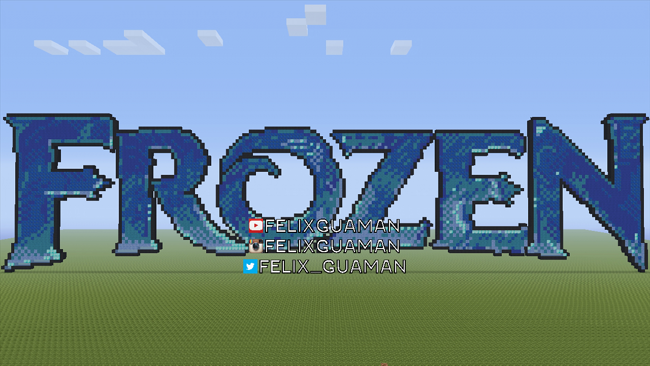 Frozen Minecraft Pixel Art By FelixGuaman Frozen Minecraft Pixel Art By  FelixGuaman