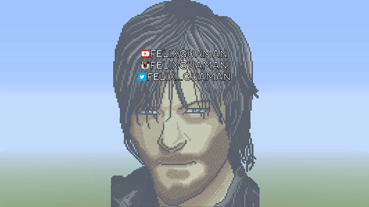 Daryl Dixon The Walking Dead Minecraft Pixel Art By FelixGuaman On - Skins para minecraft the walking dead