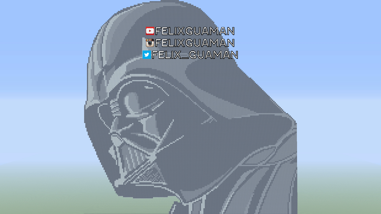 Darth Vader Star Wars Minecraft Pixel Art By Felixguaman On