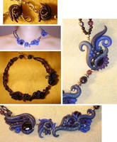 Velvet Skies - necklace by Dragonfeelers