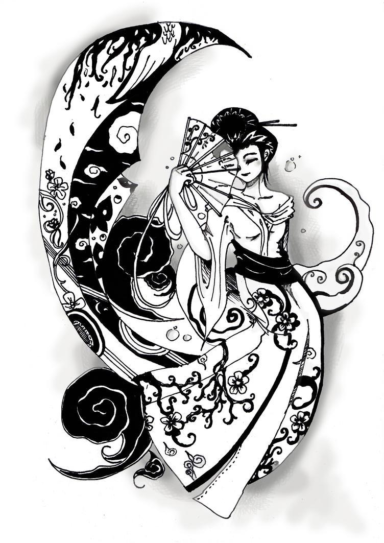 Floating Young Geisha by myamadis