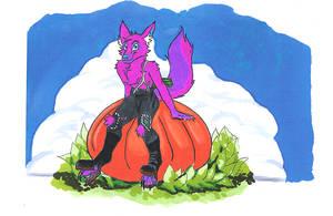 Inktober 22/31 Pumpkin Patch Perch