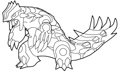 primal groudon coloring pages - photo#3