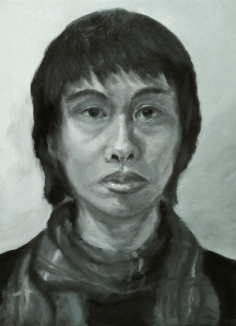 self portrait by ippiki-wolf