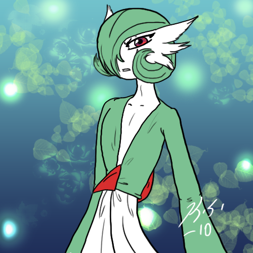 Damian the Gardevoir by The-Clockwork-Crow