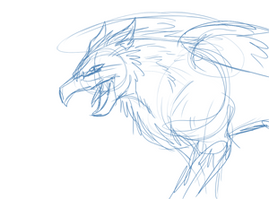 Animated rough gryphon by The-Clockwork-Crow