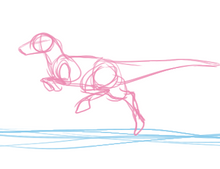 Rough running raptor animation by The-Clockwork-Crow