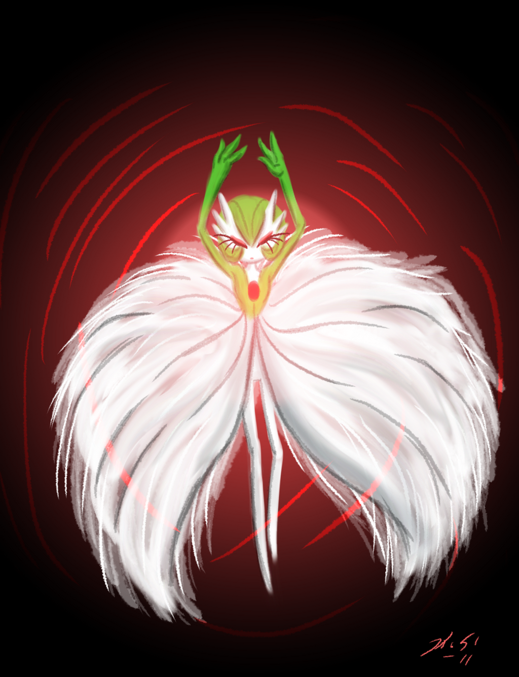 Delicate Dancer Gardevoir by The-Clockwork-Crow