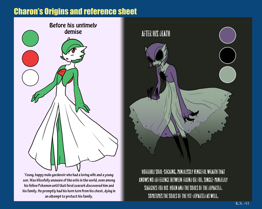 Charon's ref sheet by The-Clockwork-Crow
