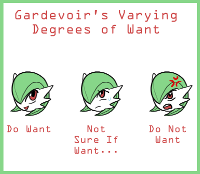 Gardevoir's Degrees of Want by The-Clockwork-Crow