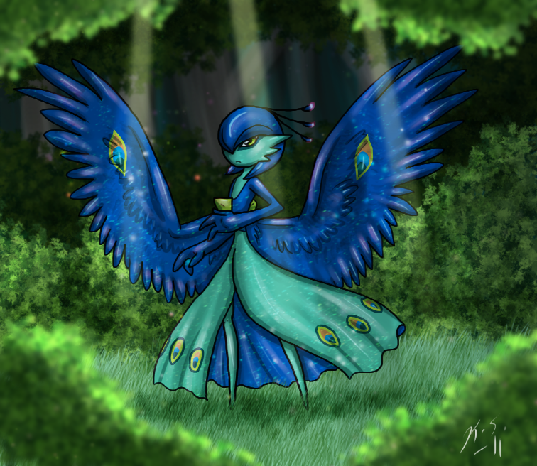 Wild Peacock Gardevoir by The-Clockwork-Crow