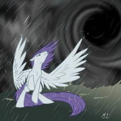 MLP Storm Eye brings rain by The-Clockwork-Crow