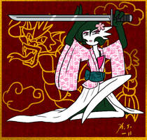 Geisha Gardevoir by The-Clockwork-Crow