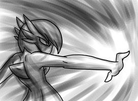 Raw Power, Gardevoir Speedpaint by The-Clockwork-Crow