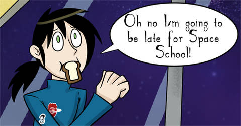 This webcomic has nothing to do with school