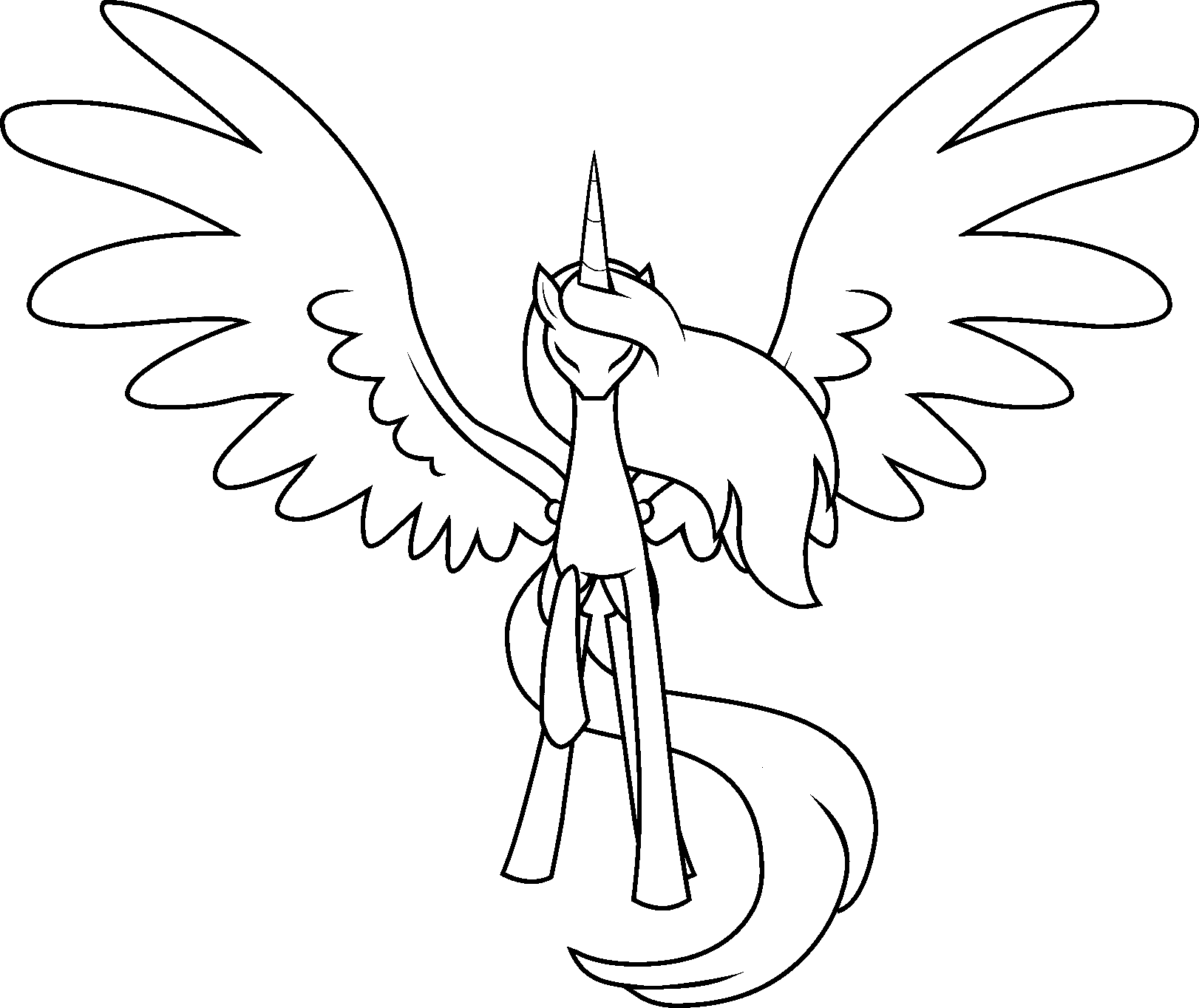 Free Alicorn Lineart By The Clockwork Crow On DeviantArt
